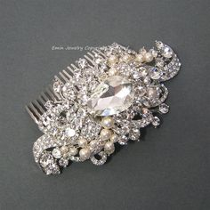 Vintage Inspired Wedding Hair Accessories, Bridal Hair Combs, Rhienstone Pearl Hair Comb Jewelry Pieces Fascinator