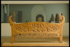 The Kungsåra bench 11th or 12th century church bench from fir. Winged dragons are an European import, but the the style is scandinavian. Historiska. See also http://samla.raa.se/xmlui/bitstream/handle/raa/546/1907_049.pdf?sequence=1