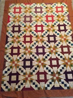 Sherry's Churn Dash & Stars Quilt