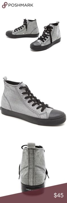 """Cheap Monday Sneakers Two-toned high top sneakers. Lace-up style. Cheap Monday patch on back. Excellent Condition Like New. 5"""" high top. EUR 36. US 4. UK 3.5 Cheap Monday Shoes"""