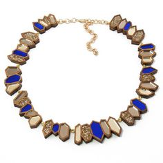 Crystal Collar Necklace Blue
