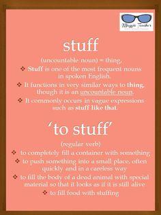 Stuff and To Stuff Learn English