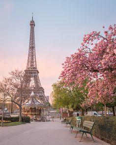 paris, flowers, and eiffel tower resmi Torre Eiffel Paris, Paris Eiffel Tower, Beautiful Paris, Paris Love, Paris Pictures, Paris Photos, Paris In Spring, Hello France, Paris Wallpaper