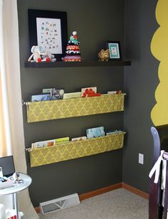 Is this fabric and a curtain rod? Better than wood shelving that sticks out!