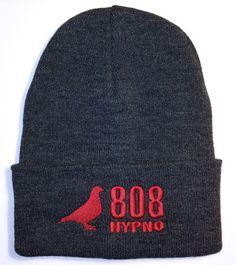 Zimní čepice 808 logo DarkGrey/Red - Hypno808