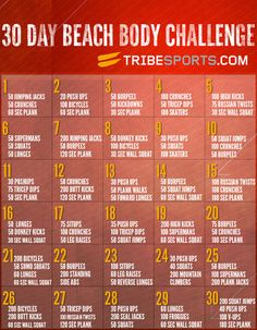 30 Day Beach Body Challenge Picture