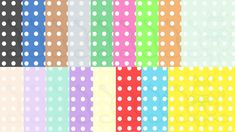 Colored Polka Dot Digital Paper Instant Download, White Polka Dots, Colored…