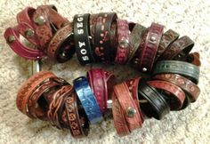 Bracelet department at Beauvine Leather.