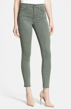 J Brand 'Maria 2311' High Rise Skinny Jeans (Sprucestone)