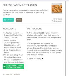 Cheesy Bacon Rotel Cup