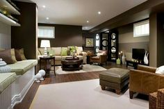 This is a great Family Room/Recreation or Media Room!!! Bebe'!!! This room has a great deal of built in seating!!!