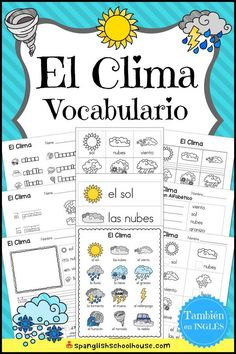 Awesome collection of Spanish Vocabulary printables for Spanish Preschool, Spanish Immersion Kindergarten, and Elementary Spanish. Spanish Classroom Activities, Preschool Spanish, Learning Spanish For Kids, Spanish Lessons For Kids, Spanish Basics, Spanish Teaching Resources, Spanish Lesson Plans, Spanish Language Learning, Learn Spanish