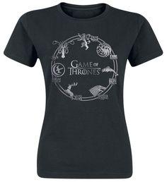 Game Of Thrones Circle Logo Girl-Shirt schwarz L