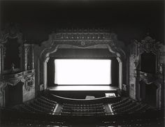 Canton Palace, OH 1980 - Hiroshi Sugimoto. In the Hirshhorn Museum collection, contemporary photographics A Level Photography, Still Photography, Photography Projects, Vintage Photography, Hiroshi Sugimoto, Hirshhorn Museum, Japanese American, Pictures Of The Week, Black And White Pictures