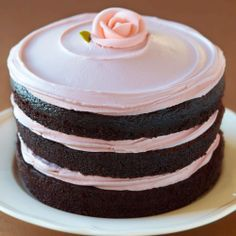 Miette tomboy cake - Woman And Home | Taken from Miette by Meg Ray and Leslie Jonath, this stunning chocolate and raspberry frosted buttercream layer cake is a Miette pastry shop favourite.