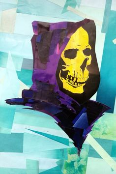 Rodolphe Kollagen - Skeletor  #skeletor #collage
