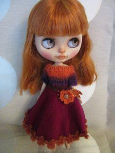 Blythe Winter dress  for your Blythe doll  by KarlaKarfunkel