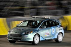 Ford Focus Electric paces NASCAR race in Virginia.