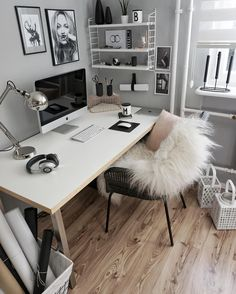 home office ideas to brighten up your work from home! - home office ideas to brighten up your work from home! home office ideas to brighten up your work from home! Home Office Design, Home Office Decor, House Design, Home Decor, Office Decorations, Office Designs, Office In Bedroom Ideas, Bedroom Ideas Grey, Office Ideas For Work