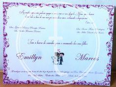 Convite casamento à gosto da noiva.