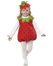 Product Description This Toddler Strawberry Girl Costume includes the red printed romper with collar and the scrunchie with the attached hat. White turtle neck is not included. Includes romper scrunchie w/hat Fruit Costumes, Dress Up Costumes, Baby Costumes, Strawberry Shortcake Costume, Costume Carnaval, California Costumes, Fantasias Halloween, Halloween Costumes For Girls, Girl Halloween