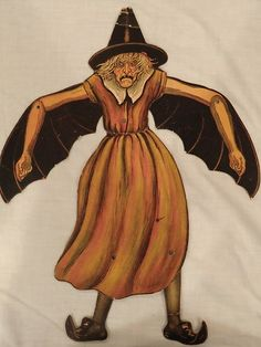 "VINTAGE BEISTLE ""THE HORRIBLE WITCH"" MECHANICAL DIECUT 1920'S"