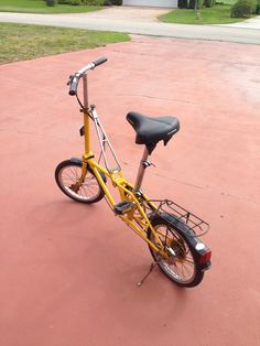 Vintage Dahon Folding Bike Yellow great for #camping #boating or keep it in your car for whenever!