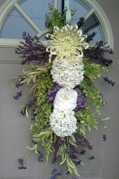 """Spring / Summer Grapevine swag wreath - """" Wild Lavender """"... Gorgeous for year round use.  Spring wreaths"""