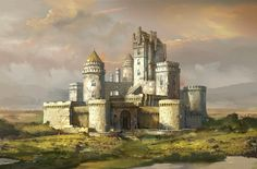 White Castle by Andrew Ryan : ImaginaryCastles Fantasy castle Fantasy city Castle art