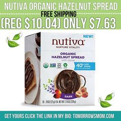 Great deal on this #vegan most delicious hazelnut spread. Order yours now GO to link in my bio @tomorrowsmom for details . . . . Visit My Blog: TomorrowsMom.com  Organic & Natural Deals Family Savings Deals  . TAG OR DM THIS DEAL 2 A FRIEND . . #frugal #savings #deals #cosmicmothers  #organic #fitmom #health101 #change #nongmo #organiclife #crunchymama #organicmom #gmofree #organiclifestyle #familysavings  #healthyhabits #lifechanging #fitpeople #couponcommunity #deals  #healthyppl…