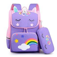 Baby School Bags, Cheap School Bags, School Bags For Kids, Boys Backpacks, School Backpacks, Unicorn Kids, Purple Bags, Girls Bags, Printed Bags
