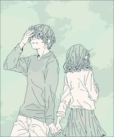 Original Artwork Kawaii art Kawaii couple Credit to the Kenshi yonezu and Eine Kleine Tags Manga Love, Anime Love, Aesthetic Anime, Aesthetic Art, Character Inspiration, Character Design, Poses References, Manga Couple, Love Illustration
