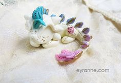 Tiny Dragon Sculpture / Cute Dragon Polymer by PlushlikeCreatures