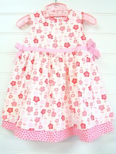 Vintage Girl Clothes Toddler Girl Dress Floral di OnceUponADaizy, $16.00