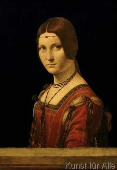 Leonardo da Vinci - Portrait of a Lady from the Court of Milan, c.1490-95
