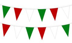 Red/White/Green Plastic Pennant String, x triangular plastic pennants. Flag Banners, Pennant Banners, Red Green, Red And Blue, Black And White Flag, Best Banner Design, Triangle Banner, Flag Shop, Small Flags