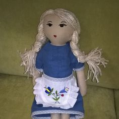 kashubian doll, fabric doll, handmade doll, embroidery doll, linen doll, rag doll, girls gift, birthday gift, kashubian apron by Kaszubjanka on Etsy