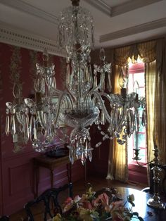 """$830 w/reserve not met. BIN $3,000 30"""" H. X. 28"""" wide Waterford Crystal Cranmore 9 Arm Chandelier  Waterford Cranmore Nine Arm Crystal Chandelier   30 inches high, 28 inches wide double tier with center column. weight fully assembled 33 pounds. Maximum Wattage 40 watt each bulb. Product was hand made to order in 1978.   Excellent Condition with the exception of one tiny crack inside center column large bowl on the interior rim. ( you have"""