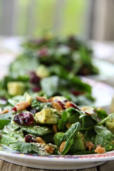 I love the flavors, colors and textures packed in this Cranberry Avocado Salad with Sweet White Balsamic Vinaigrette.
