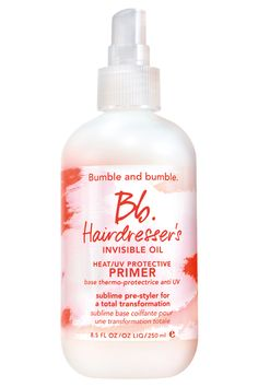 Please, Geek Out With Us Over Bumble And Bumble's Newest Launch #refinery29  http://www.refinery29.com/2014/05/67994/bumble-and-bumble-hairdressers-invisible-oil#slide4  Bumble and bumble Hairdresser's Invisible Oil Heat/UV Protective Primer, $26, available in salons now and online in June.
