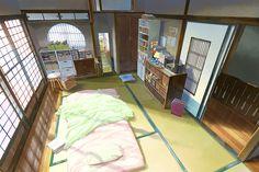 Who room uhm maybe Mitshuha Scenery Background, Animation Background, Manga Art, Anime Art, Casa Anime, Film Anime, Anime Places, Graphisches Design, Interior Design
