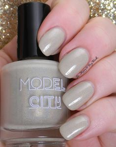 Model City Polish Latte | Be Happy And Buy Polish http://behappyandbuypolish.com/2015/03/19/model-city-polish-latte-dark-roast-swatches-review/