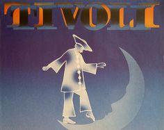 1982 Tivoli Amusement Park Original Vintage by OutofCopenhagen Apartment Wall Art, Rome Art, Medical Posters, Tivoli Gardens, Poster Display, Garden Wall Art, Italy Art, Architectural Prints, Skyline Art