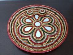 Pooja thali / Diwali puja/ Wedding plate/ Roli Chawal / kanku