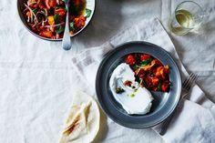 Half Roasted Tomato Salad with Salsa Verde recipe on Food52