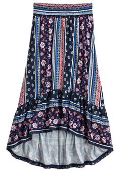 High Low Printed Maxi Skirt (original price, $29.90) available at #Justice