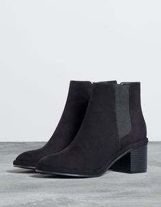 Elastic low heel ankle boots - Shoes - Bershka Switzerland