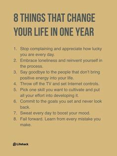 Tips to change your life