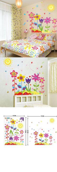 Mosunx Business New Flower Butterfly Removable Vinyl Decal Art Mural Home Decor Kids