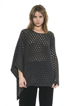 Lynn Pullover by one grey day- Lynn a luxury trend forward piece, in our luxe cashmere blend in the poncho/pullover hyrbid silhouette. Dark Grey, Pullover Sweaters, Cashmere, Bell Sleeve Top, Tunic Tops, Knitting, Day, Long Sleeve, Fall 2015
